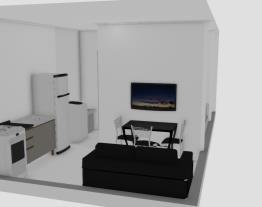 Kitnet 1 quarto com varanda