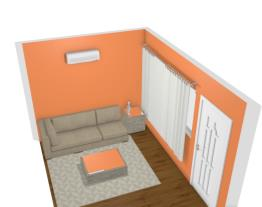 Sala de estar pequena acomchegante
