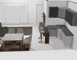 Meu projeto sala e cozinha
