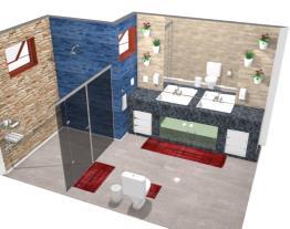 Banheiro Social c/ pia Dupla