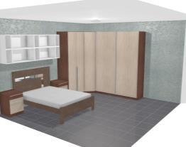 Quarto Modulado de Casal com 8 módulos Exclusive Branco/Carvalho - Henn