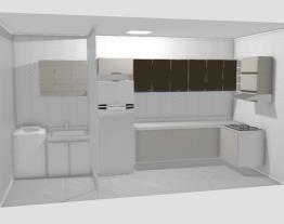 Cozinha - ideia inicial da disposição dos moveis