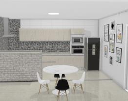 Cozinha e Sala de Jantar Comteporanea