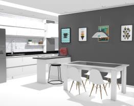 Cozinha Americana e Sala de Jantar