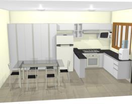 Cozinha L  armário e geladeira sala jantar 3