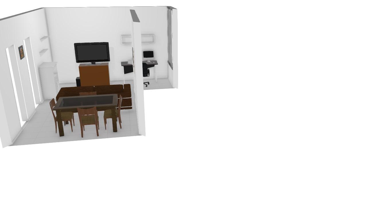 minha mesa e sofá de dois lugares