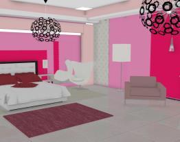 quarto casal rosa