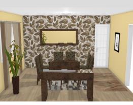 Sala de Jantar Casa Térrea 12x25