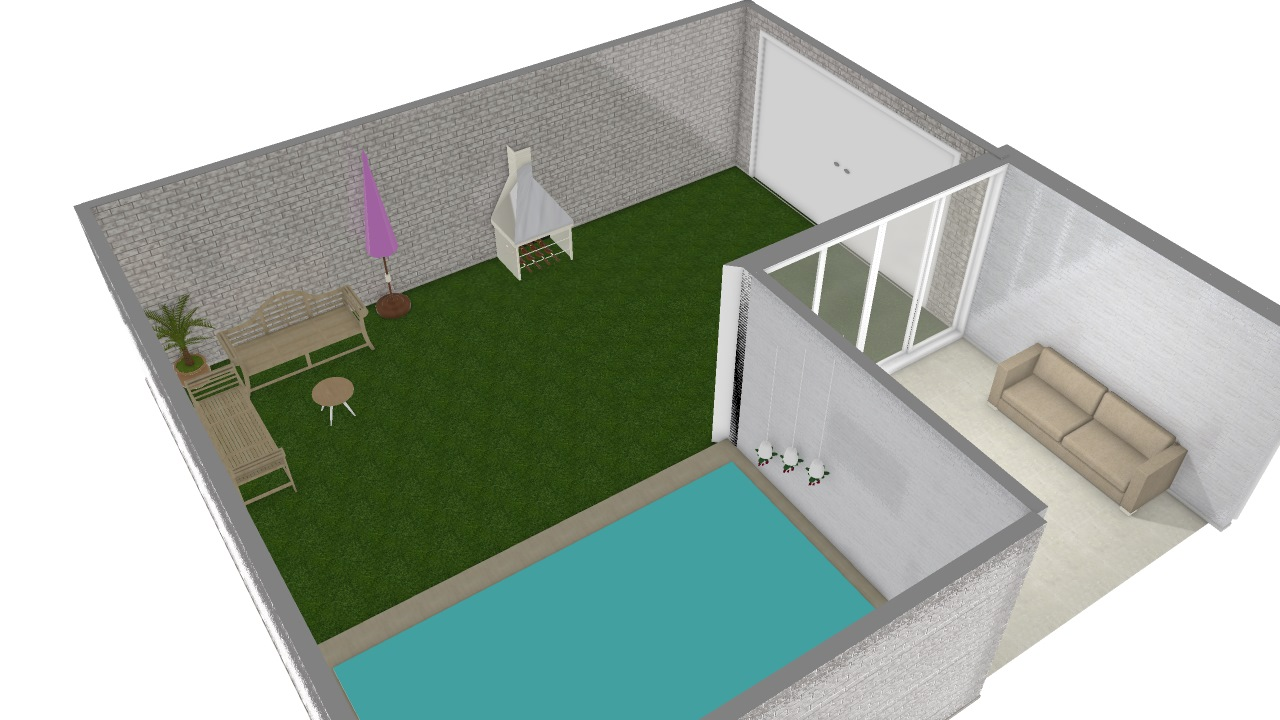 casa c piscina