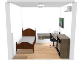 Meu quarto na realidade