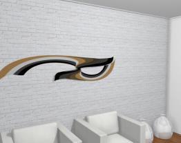 Escultura de parede Adorno APRI (210 X 46) - 614 - Roncali