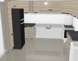 cozinha simples com cooktop e pia de 120