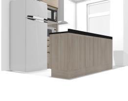 Cozinha Maxxi paneleiro lado geladeira