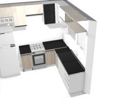 cozinha+fogão perto geladeira