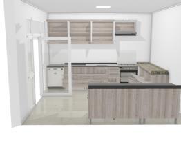 Cozinha com porta