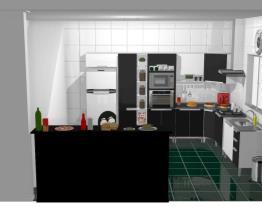 Meu projeto no Mooble Cozinha Branca e Preta