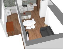 sala/varanda e cozinha