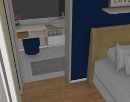 quarto hospedes azul