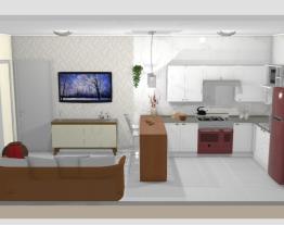 Nossa cozinha e sala