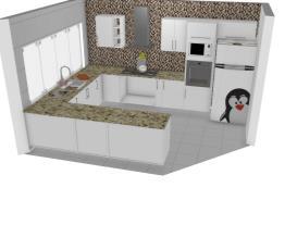 Cozinha Nice Aqua e Branca