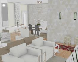 2 Salas integradas - Graziela Lara