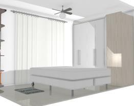 Quarto casal apartamento 10m2