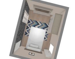 Quarto Novo - Parede da porta vazia