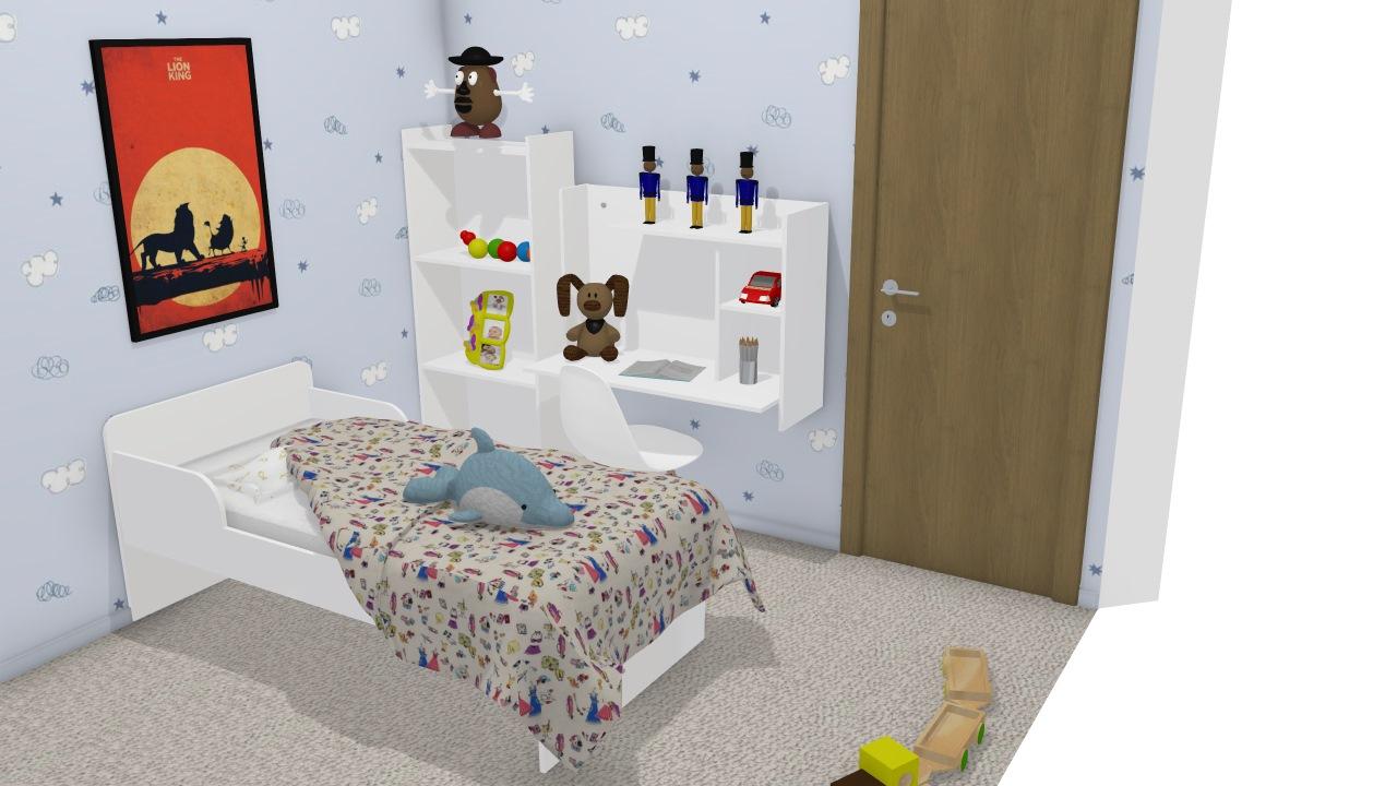 Composição de dormitório de menino