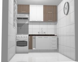 Cozinha 2,10 branca com Teka 2 - Granito Café Imperial