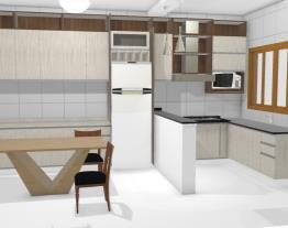 Cozinha L  armário e geladeira sala jantar 6 bRANCO