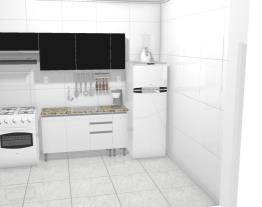 Cozinha Itatiaia - Aço Clarice - Branco/Preto