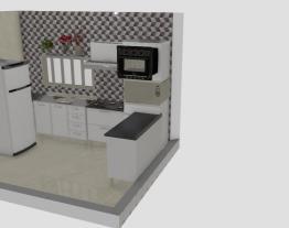 Cozinha com cooktop e forno