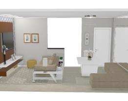5 Salas integradas pequenas - Graziela Lara