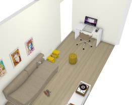 sala de tv com escritorio