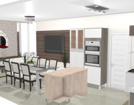 Cozinha integrada sala jantar 3 - Graziela Lara