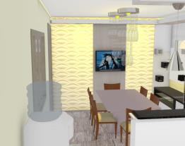 Cozinha L  armário e geladeira sala jantar 4 bRANCO