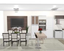 Cozinha integrada sala jantar 2 - Graziela Lara