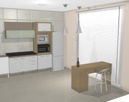 Cozinha Modulada Completa 6 Módulos Ilhabela Carvalho Dover/Branco/Trufa Trama - Gralar