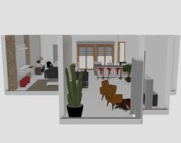 sala, copa e cozinha