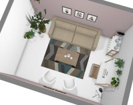 Sala de estar com home office