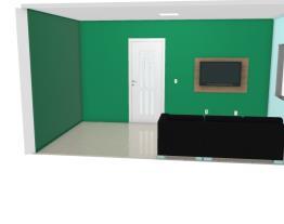 sala simples com ar