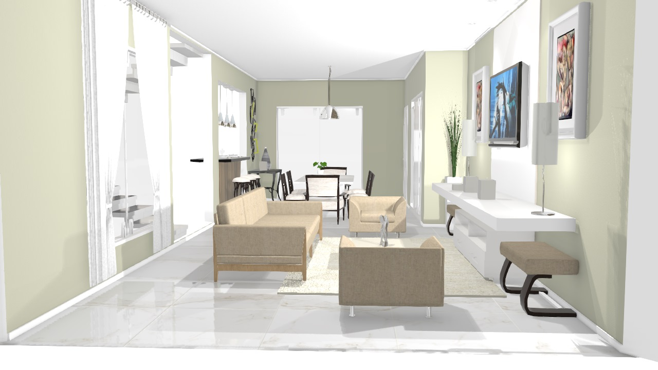 Zuccanovich Sala de estar/Jantar