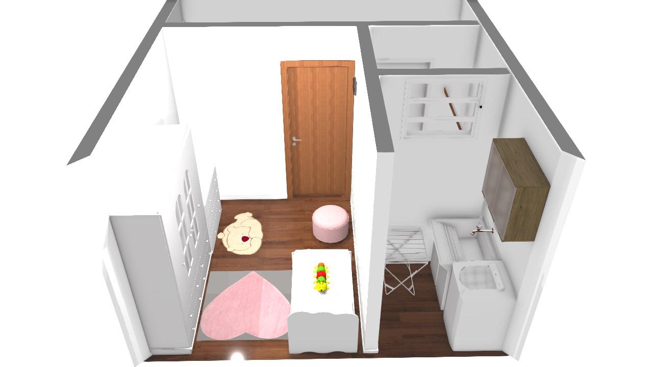 lavanderia e quarto infantil