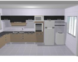 Projeto cozinha casa fogao embutido 2