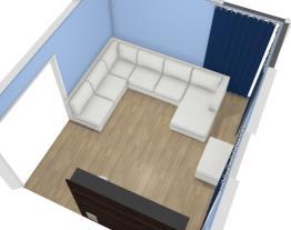 Sala de Estar/TV Casa Térrea 12x25