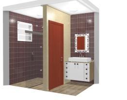 Lavabo e Banheiro Apartamento 15