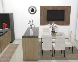 Cozinha e sala de jantar - Graziela Lara