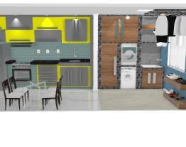 Cozinha & Lavanderia Apartamento 1