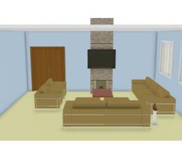 sala grande com cadeiras