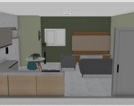 Sala integrada com cozinha salvo